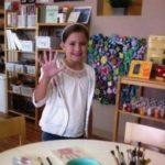 Happy Birthday Party Girl Getting Handprinted
