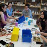 Group at Table Mosaics