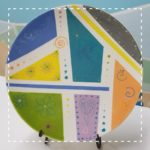 Patchwork Colorful Medium Coupe Plate