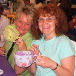 Two Smiling Jumbo Mug Painters