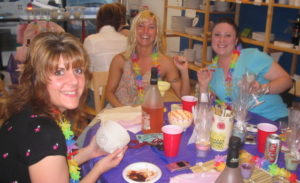 Happy, Smiling Adults Paint Party