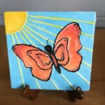 Butterfly Coloring Tile